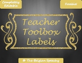Teacher Toolbox Labels for Classroom Organization - Comple