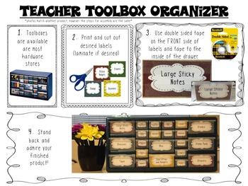 Teacher Toolbox Labels - fun beachy print!