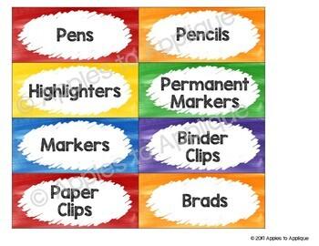 Teacher Toolbox Labels EDITABLE in Rainbow Theme