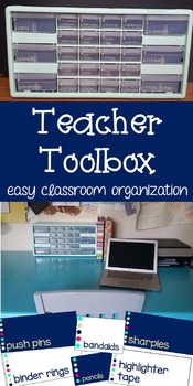 Teacher Toolbox Labels {navy and gold} EDITABLE