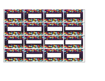 Teacher Toolbox Labels - purple with colorful triangles