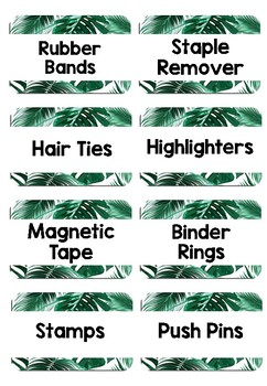 Teacher Toolbox Labels - tropical theme