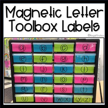 Teacher Toolbox Magnetic Letter Storage Labels