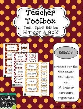 Teacher Toolbox - Maroon & Gold - Team Spirit