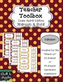 Teacher Toolbox - Maroon & Gold - Team Spirit