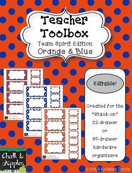 Teacher Toolbox - Orange & Blue - Team Spirit