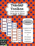 Teacher Toolbox - Orange & Blue - Team Spirit