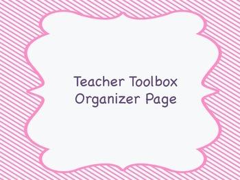 Teacher Toolbox Organizer