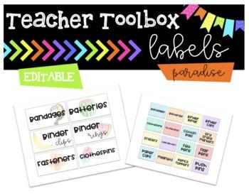 Teacher Toolbox || Paradise || Editable