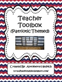 Teacher Toolbox (Patriotic Themed) - EDITABLE