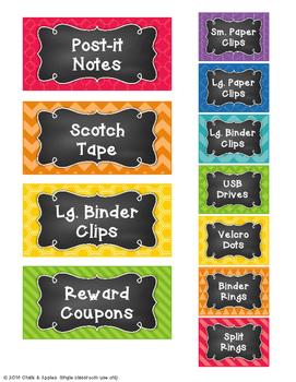 Teacher Toolbox - Editable Chalkboard Labels