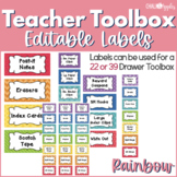 Teacher Toolbox - Editable Chalkboard Labels