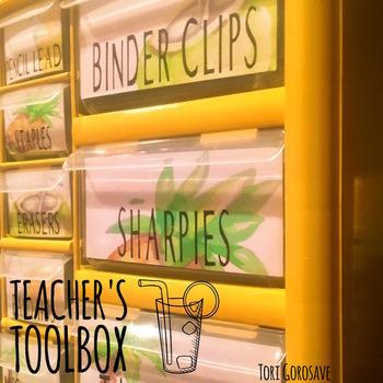 Teacher Toolbox - Pineapple & Tropics Design