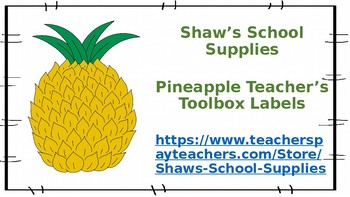 Teacher Toolbox--Pineapple design