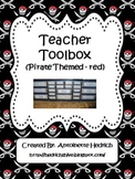 Teacher Toolbox (Pirate Themed -red) - EDITABLE