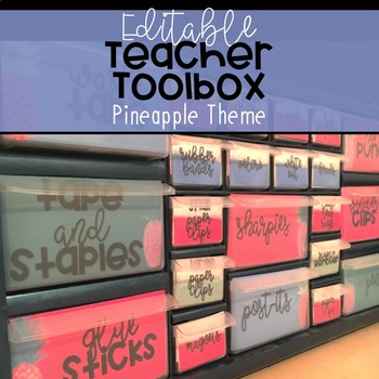 Teacher Toolbox: Pretty Pineapple [Editable!]