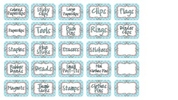 Teacher Toolbox Printable Teal and Coral