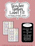 Teacher Toolbox - Rainbow Chevron theme (EDITABLE) - primary colors