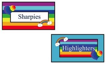 Teacher Toolbox Rainbow Labels