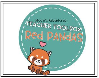 Teacher Toolbox Red Panda Theme