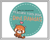 Teacher Toolbox Red Panda Theme