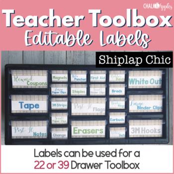 Teacher Toolbox - Shiplap Chic - Rustic Farmhouse Chic