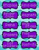 Teacher Toolbox Storage Labels - Purple & Teal {Editable}