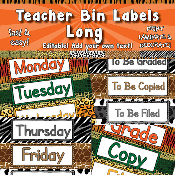 Teacher Toolbox / Storage Bin Labels APT 001