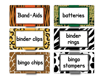 Teacher Toolbox / Storage bin labels   APT-001