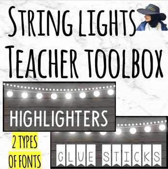 Teacher Toolbox Labels (String Lights)