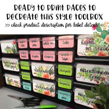 Teacher Toolbox - Succulents - Cactus - *EDITABLE*