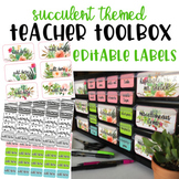 Teacher Toolbox - Succulents - Cactus - *EDITABLE*