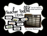 Teacher Toolbox Supply Labels