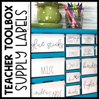 Teacher Toolbox Labels: 22 Drawer