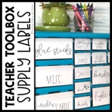 Teacher Toolbox Labels 22 Drawer