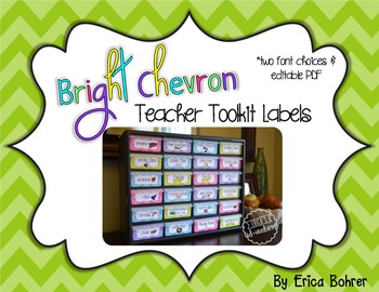 Teacher Toolbox Supply Labels: Bright Tonal Chevron