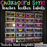 Teacher Toolbox Supply Labels: Chalkboard