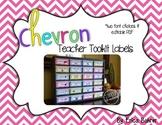 Teacher Toolbox Supply Labels: Chevron