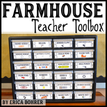 Teacher Toolbox Supply Labels: Farmhouse