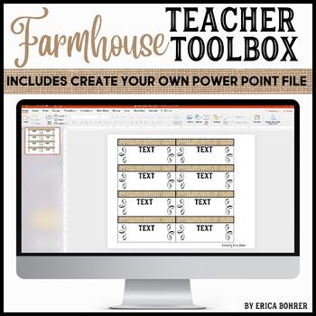 Teacher Toolbox Supply Labels: Farmhouse