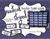 Teacher Toolbox Supply Labels: Nautical Stripes
