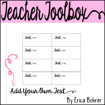 Teacher Toolbox Supply Labels: Photograph Style
