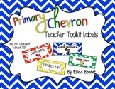 Teacher Toolbox Supply Labels: Primary Chevron