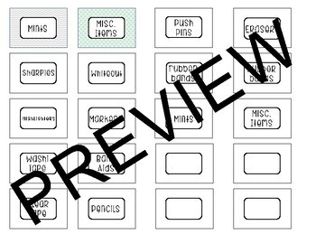 Teacher Toolbox Tabs & Labels