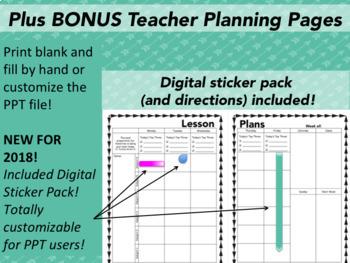 Teacher Toolbox Teaching Binder and Lesson Plan Template *EDITABLE*