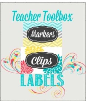 Teacher Toolbox Labels Template Chevron & Dahlia