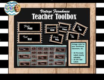 Teacher Toolbox (Vintage Farmhouse)