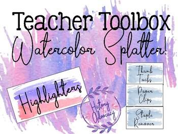 Teacher Toolbox - Watercolor Splatter