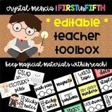 Teacher Toolbox - Wizard Themed - EDITABLE