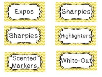 Teacher Toolbox-Yellow Chevron